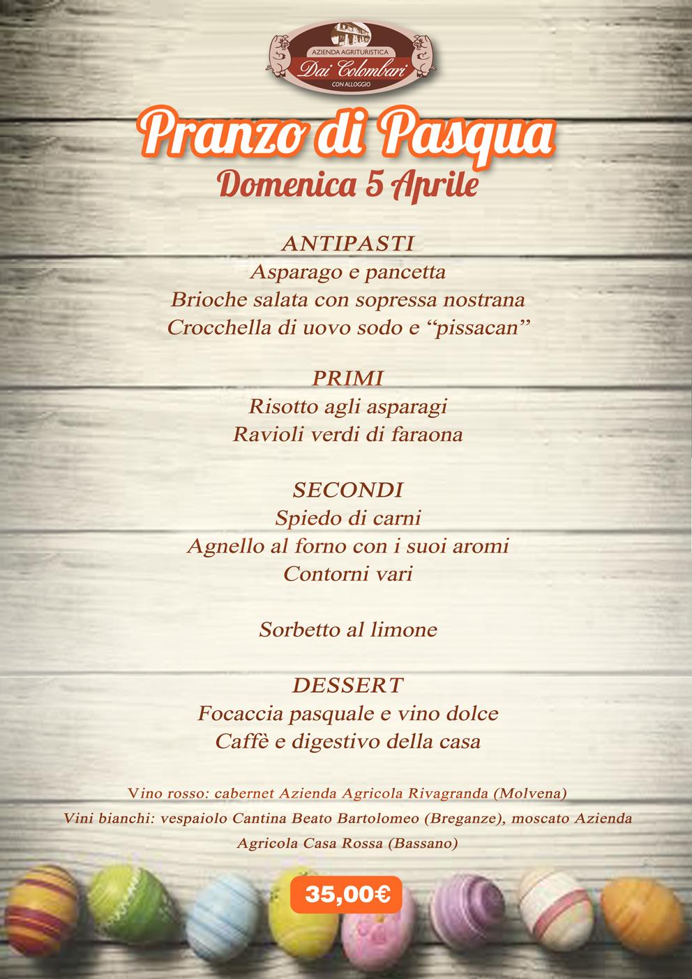 Men pranzo di pasqua 2015 agriturismo dai colombari for Pranzo di pasqua in agriturismo lombardia